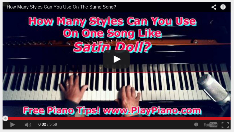 "Piano piano chords techniques : Using Different Piano Arranging Techniques in ""Satin Doll"" 