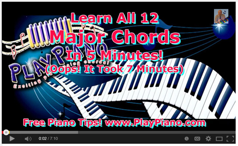 Piano 12 piano chords : Learn all of the 12 Major Piano Chords | Piano Lessons for Adults